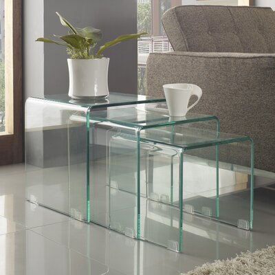 Cascade Nesting Coffee Table 3 Piece Set
