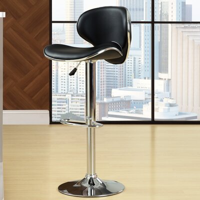 "Modway Saddleback 23.5"" Adjustable Bar Stool"
