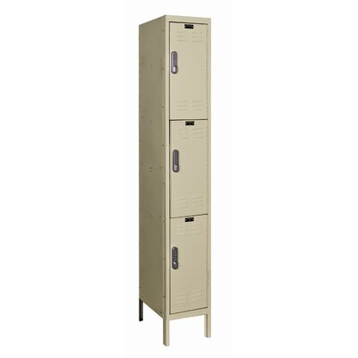 Hallowell DigiTech Electronic Locker Triple Tier 1 Wide (Knock-Down)