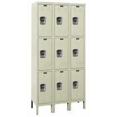 Hallowell ReadyBuilt Three Wide Triple Tier Locker  (Assembled) (Quick Ship)