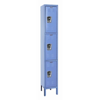 Hallowell ReadyBuilt Locker Triple Tier 1 Wide (Assembled)