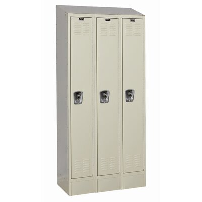 Hallowell ReadyBuilt II Three Wide Single Tier Locker