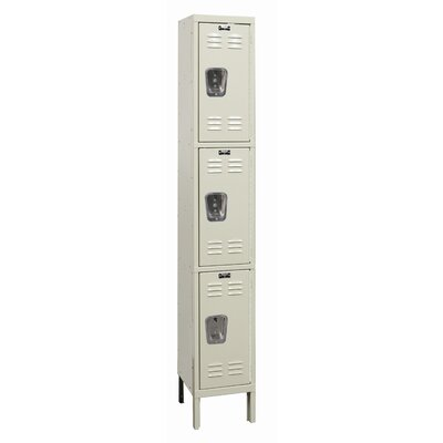Hallowell Galvanite Locker Triple Tier 1 Wide (Knock-Down)
