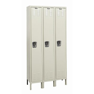 Hallowell Galvanite Locker Single Tier 3 Wide (Knock-Down) (Quick Ship)