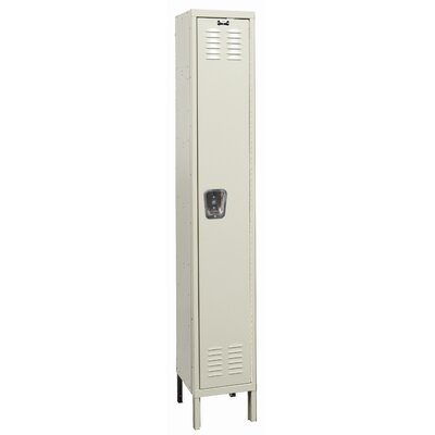 Hallowell Galvanite Locker Single Tier 1 Wide (Assembled)