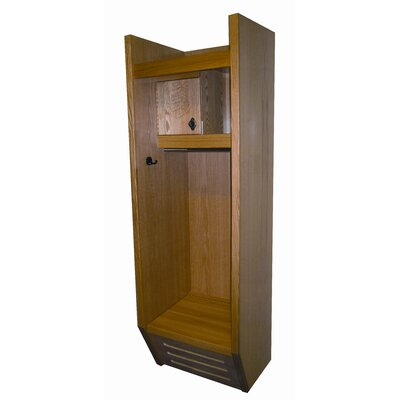 Hallowell Recruiter All Wood Sport Locker 1 Wide (Assembled)