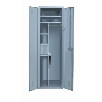 Hallowell TaskForceXP One Wide Single Tier Locker in Hallowell Gray (Assembled)