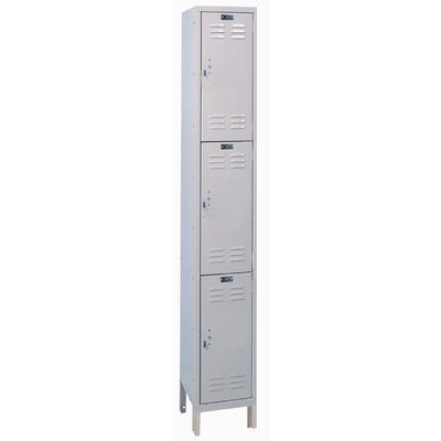 Hallowell ValueMax One Wide Triple Tier Locker  (Unassembled)
