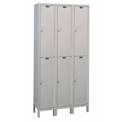Hallowell Value Max Locker Double Tier 3 Wide (Assembled) (Quick Ship)