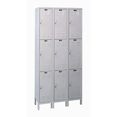 Hallowell Value Max Locker Triple Tier 3 Wide (Assembled)
