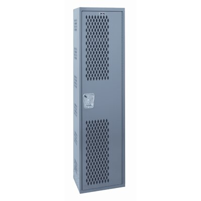 Hallowell Welded Single-Point Ventilated Locker Single Tier 1 Wide (Quick Ship)