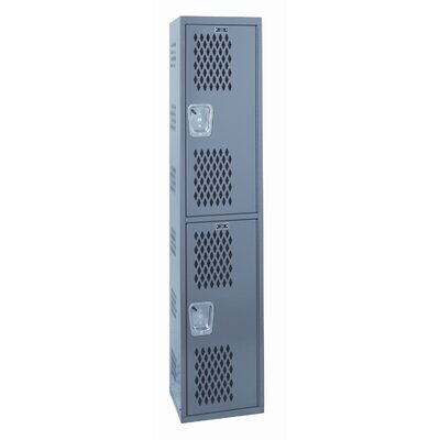 Hallowell Welded Single-Point Ventialted Locker Double Tier 1 Wide