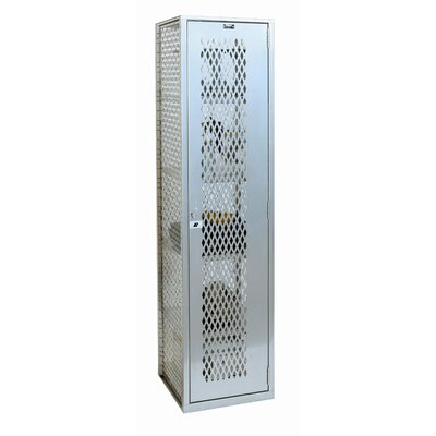 Hallowell MaxView One Wide Single Tier Locker in Sport Silver (Assembled)