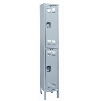 Hallowell MedSafe Locker Double Tier 1 Wide (Assembled)