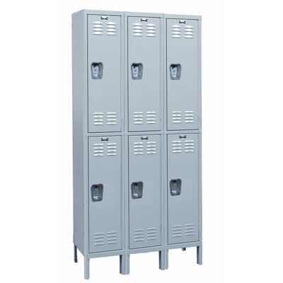 Hallowell MedSafe Locker Double Tier 3 Wide (Assembled)