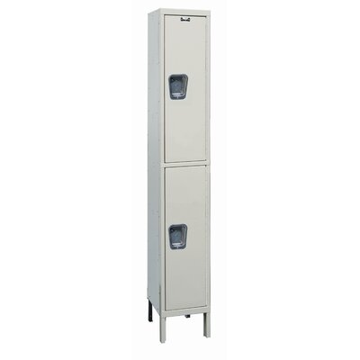 Hallowell Maintenance-Free Quiet Stock Lockers - Double Tier - 1 Section (Unassembled)