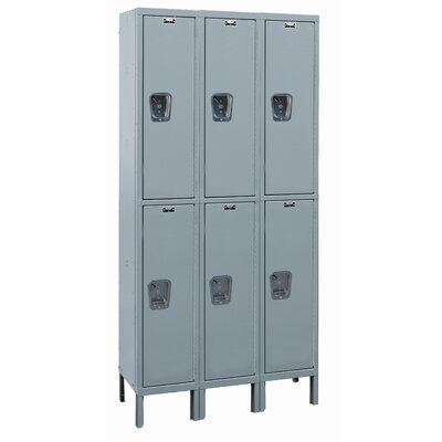 Hallowell Maintenance-Free Quiet Locker Double Tier 3 Wide (Assembled) (Quick Ship)