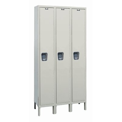 Hallowell Maintenance-Free Quiet Stock Lockers - Single Tier - 3 Sections (Unassembled)