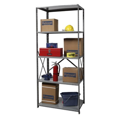 "Hallowell Hi-Tech Medium-Duty Open Type 87"" H 4 Shelf Shelving Unit"