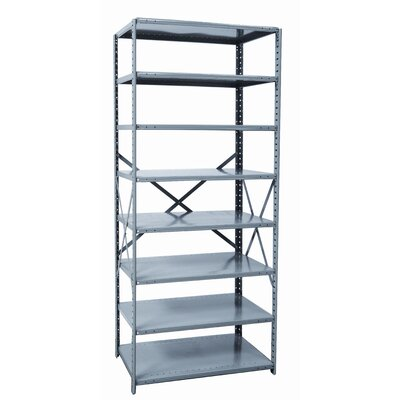 "Hallowell Hi-Tech Shelving Heavy-Duty Open Type 87"" H 7 Shelf Shelving Unit"