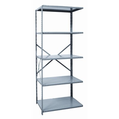 "Hallowell Hi-Tech Shelving Heavy-Duty Open Type 87"" H 5 Shelf Shelving Unit"