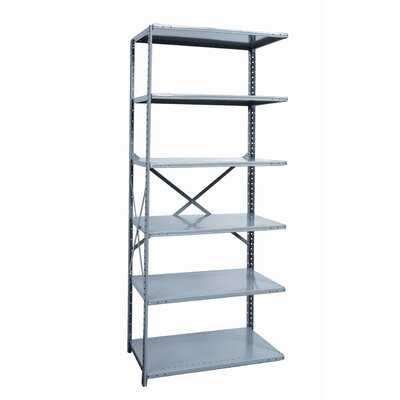 Hallowell Hi-Tech Shelving Medium-Duty Open Type Add-on Unit with 6 Shelves