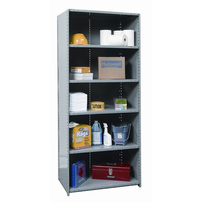 "Hallowell Hi-Tech Heavy-Duty Closed Type 87"" H 6 Shelf Shelving Unit Starter"