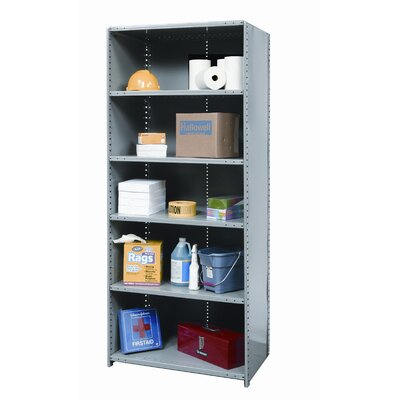 Hallowell Hi-Tech Shelving Medium-Duty Closed Type Starter Unit with 6 Shelves