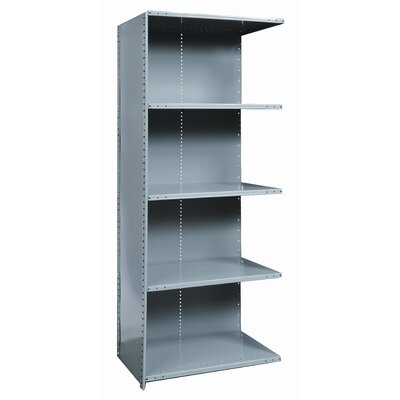 Hallowell Hi-Tech Shelving Extra Heavy-Duty Closed Type Add-on Unit with 5 Shelves