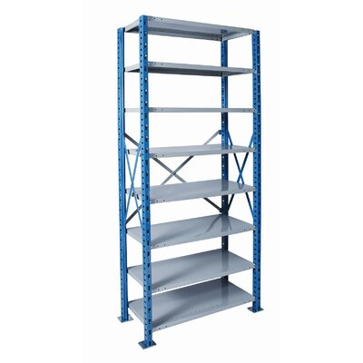 Hallowell H-Post Shelving High Capacity Open Type Starter Unit with 8 Shelves