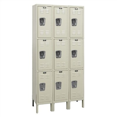Hallowell Premium Locker Triple Tier 3 Wide (Knock-Down) (Quick Ship)