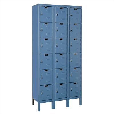Hallowell Premium Locker 6 Tier 3 Wide (Knock-Down) (Quick Ship)