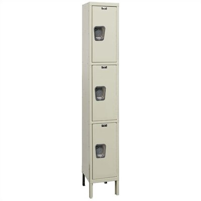 Hallowell Maintenance-Free Quiet Stock Lockers - Triple Tier - 1 Section (Unassembled)