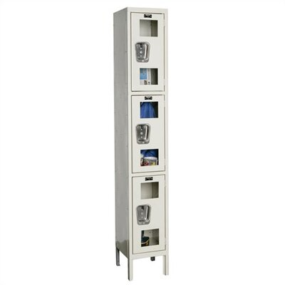 Hallowell Safety-View Stock Lockers - Triple Tier - 1 Section(Unassembled)