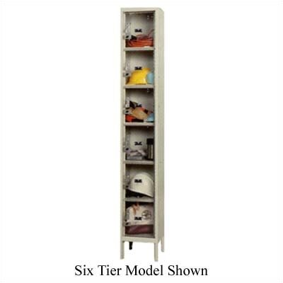 Hallowell Safety-View Plus Stock Lockers - Five Tiers - 1 Section (Unassembled)