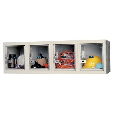 Hallowell Safety-View Plus Stock Lockers Four-Wide Wall Mount (Unassembled)