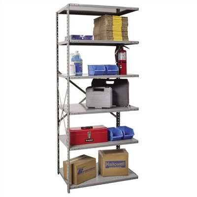 Hallowell Hi-Tech Open Type Adder 6 Shelf Shelving Unit
