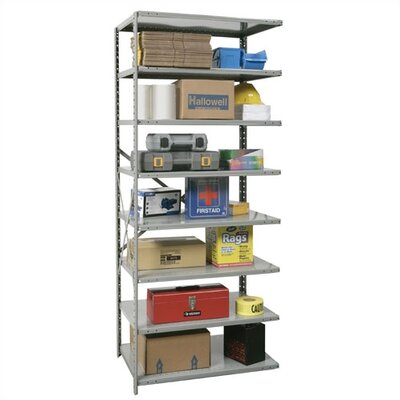 Hallowell Hi-Tech Open Type Adder 7 Shelf Shelving Unit