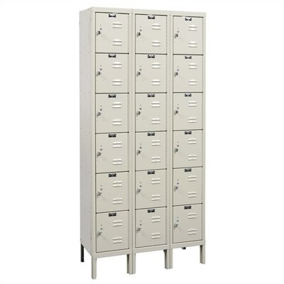 Hallowell Rust Resistant Lockers - Six Tier - 3 Sections (Assembled)