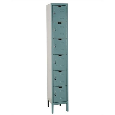 Hallowell Assembled Premium Stock Six Tiers 1 Section Lockers
