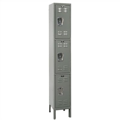 Hallowell Premium Stock Lockers - Triple Tier - 1 Section (Unassembled)