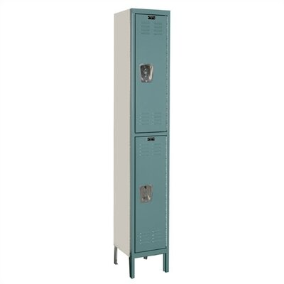 Hallowell Premium Stock 1 Wide 2 Tier Locker (Assembled)