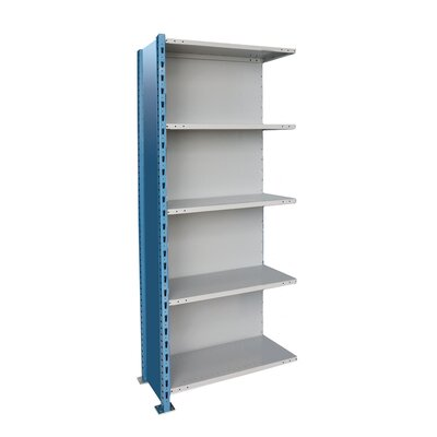 Hallowell H-Post High Capacity Shelving 5 Adjustable Shelves Add-on Unit Closed Style