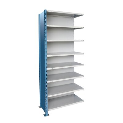 Hallowell H-Post High Capacity Closed Style 7 Shelf Shelving Unit Add-on