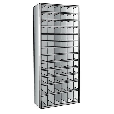 "Hallowell Hi-Tech 87"" H 13 Shelf Shelving Unit"