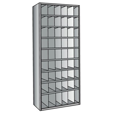"Hallowell Hi-Tech Metal Bins with 3"" Front Bins Shelving"