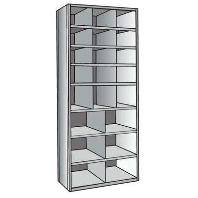 "Hallowell Hi-Tech 87"" H 8 Shelf Shelving Unit"