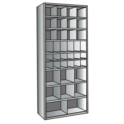 "Hallowell Hi-Tech 87"" H 9 Shelf Shelving Unit"