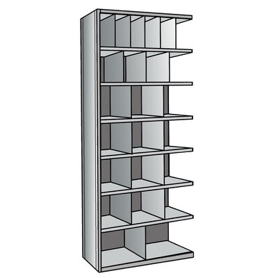 "Hallowell Hi-Tech Metal Bin Shelving Add-on Unit (6) 6"" W x 12"" H, (4) 9"" W x 12"" H, (12) 12"" W x 12"" H, (2) 18"" W x 12"" H Bins"