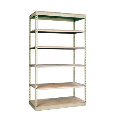 "Hallowell Rivetwell Single Rivet Boltless 84"" H 5 Shelf Shelving Unit Starter"